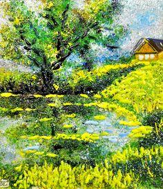 Картина из стекла