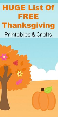 Thanksgiving Printables and Easy Crafts