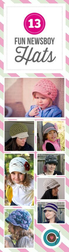 You don't have to be delivering papers to enjoy a great newsboy hat anymore! The always popular style of hat is one of my top 5 favorites to make. There are so many great patterns
