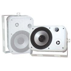 """6.5"""" Indoor/Outdoor Waterproof Speakers (White) - PYLE - PDWR50W"""