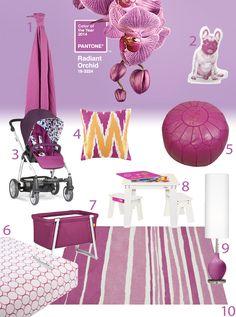 Radiant Orchid Color of the Year 2014 inspiratie voor de baby- /  kinderkamer  www.stijlvolstyling.blogspot.nl