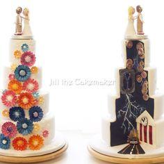 back-to-the-future-wedding cake