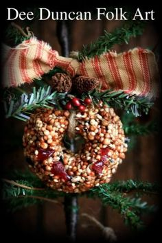 PatternMart.com ::. PatternMart: Colonial Christmas Seed & Cranberry Wreath