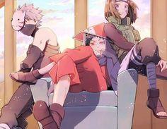 Naruto Minato, Team Minato, Kakashi And Obito, Naruto Teams, Naruto Anime, Naruto Comic, Naruto Cute, Naruto Shippuden Anime, Madara Uchiha