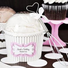 Personalized Birthday Cupcake Mix - Cupcake Party Favor Ideas