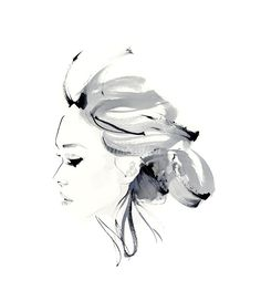 Fashion illustration - stylish portrait sketch // Christian David Moore