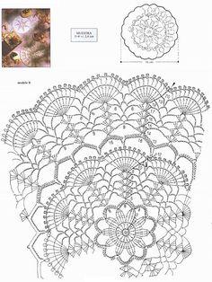 free diagram ~ Crochet doily ~