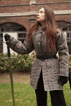 Training gambeson by sombrefeline.deviantart.com #sword