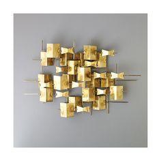 Wall Art + Decor SALE | DwellStudio Folded Brass Wall Décor 20% off thru tomorrow
