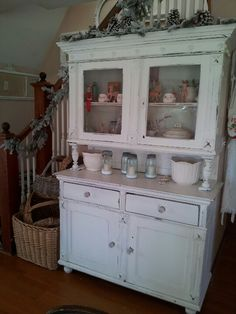 Our shabby hutch at Christmas