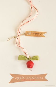 willowday: DIY Apple Necklaces