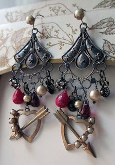 dangly earrings  The French Circus