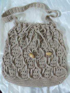 Crochet  women bag Autumn Fall fashion Handmade by colourfulrose, $42.90