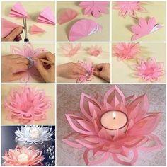 Wonderful DIY Beautiful Lotus Candlestick / WonderfulDIY.com on imgfave