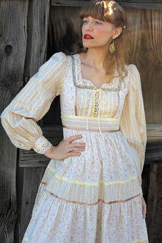 Vintage 70s GUNNE SAX Dress Prairie Girl XS by moonchildvintage, $88.00