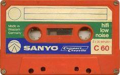 SANYO C60 80s Design, Magnetic Tape, Audio Equipment, Old Toys, Vintage Prints, Vinyl Records, Cassette Tape, Conceptual Art, Nostalgia