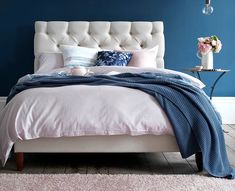 The Foxtail upholstered bed is a classic upholstered bed with deep buttoned headboard. This luxurious upholstered bed or divan is hand made in the UK. King Size Divan Bed, Super King Size Bed, King Size Bed Frame, Ottoman Storage Bed, King Storage Bed, Ottoman Bed, Wood Bedroom Sets, Bedroom Furniture, Bedroom Ideas