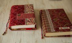 """Обложка для книги """" Бордо и клетка"""" - бордовый,обложка для книги,хороший подарок"""