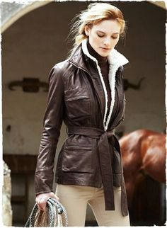 0a46be44bdc3 Amelia Leather Aviator Jacket