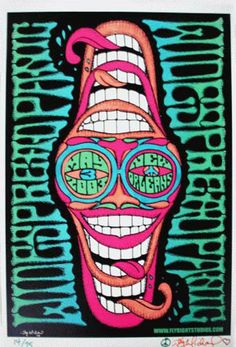 Original concert poster for Widespread Panic at the New Orleans Jazz Fest by artist Jay Michael. Limited edition of 75 signed and numbered by the artist.