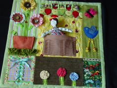 Fidgety Garden Girl - Quilt- Tactile - Bright & Colorful- Fun for Alzhiemer Patients