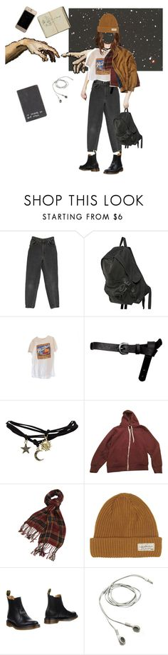 """Başlıksız #17"" by denizburcinsinar ❤ liked on Polyvore featuring Ann Demeulemeester, ASOS, Wet Seal, American Apparel, Forever 21, I Dig Denim and Dr. Martens"