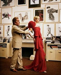 A tribute to the man who taught me femininity and poise in the form of dresses, shoes, bags and hair - Mr Valentino Clemente Ludovico Garavani.