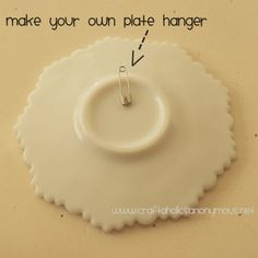 safety pin to plate (or whatever) hanger - tutorial