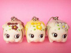 Kawaii Cute Small Piggy Key Chain Charm Mascot Collection Japan