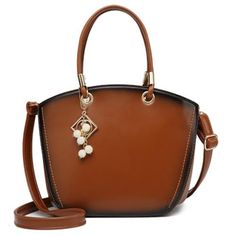 Bolish Hot Sale Ladies Bag New Fashion OL Commuter Bag Shoulder Bag Vintage PU Leather Women Top-handle Bag Cow Leather, Real Leather, Commuter Bag, Shell, Luxury Handbags, Cross Body Handbags, Leather Shoulder Bag, Shoulder Bags, Fashion Bags