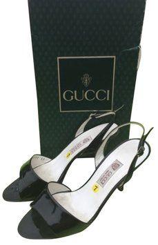 Gucci Vintage Capretto Black Pumps