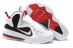 95744835b3f Nike LeBron 9 White Sport Red Black