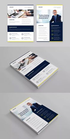 Finance and Business Multipurpose Flyer Template PSD - A4 #unlimiteddownloads