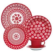 Aparelho De Jantar E Chá 30 Peças Floreal Renda 6404 Oxford