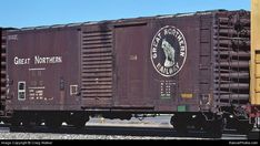 Great Northern Railroad, Northern Line, Vintage Trains, Railroad Pictures, Burlington Northern, Railroad Photography, Rolling Stock, Train Car, Car Shop