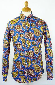 DAVID WATTS Retro Mod Signature Paisley Shirt (B) | http://www.atomretro.com/11827