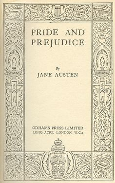 pride and prejudice book -