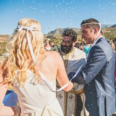 Evan and Raquel were married in Crete, an Island of Greece. Take a look at our interview with the bride and groom to discover how they planned their perfect destination wedding! Read the Greek Weddings and Traditions blog here: http://greekweddingtraditions.com/2014/08/04/evan-and-raquels-cretan-wedding-story/