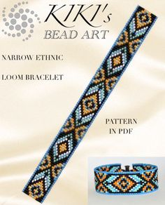 This is an own designed pattern in PDF format, downloadable directly from Etsy. This pattern is for the Narrow ethnic inspired LOOM bracelet which is created for Japanese delica beads. The pdf file includes: 1. a large picture of the pattern 2. a large, detailed graph of the pattern,
