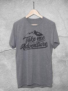Take Me On An Adventure T-Shirt | Inspirational Shirts – Mountains T-Shirt Design Hello Floyd