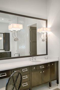 Bathroom Cabinets In Divco Custom Homes Antigua Model In Miromar