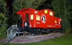 "Luxury Caboose ""J.J."" at Izaak Walton Inn, Glacier National Park"