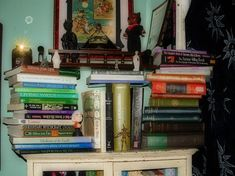 Part of my Wicca, and Theology books Stack Of Books, Wicca, Bookcase, Display, Home Decor, Floor Space, Homemade Home Decor, Billboard, Book Shelves