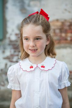 Vintage Cherry Short Set by Crescent Moon Children
