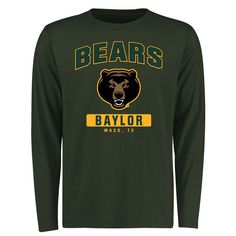 Baylor Bears Campus Icon Long Sleeve T-Shirt - Green