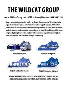The Wildcat Group    Lexington, KYu0027s Premier Moving, Home Inspection, Furniture  Repair