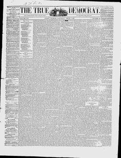 WILL COUNTY - JOLIET - 1859-1862.The True Democrat - Google News Archive Search