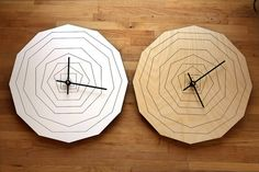 These wall clocks: | 24 Ways To Add Some Geometry To Your Home Decor