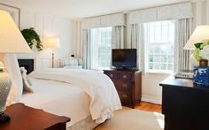 Room No. 04 in Nantucket's Union Street Inn, redesigned by Dujardin Design Associates. We've renovated each of the 12 guestrooms to showcase beautiful period details. The elegant rooms offer luxurious bedding, stunning designer furniture and fabrics, flat screen tv's and complimentary wi-fi. The