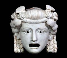 Oscillum - maschera - Pompei, I sec. d.C. - Marmo - Inv. 6609